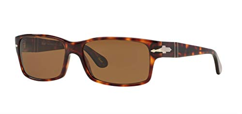 Persol Sunglasses - PO2803 / Frame: Havana Lens: Crystal Brown Polarized (58mm) (Sunglasses Persol)