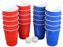 Pro Series Beer Pong Set - With Hard Plastic Melamine 20 Cups! by Fairly Odd Novelties (Image #3)