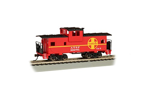 - Bachmann    - Santa Fe #999771 - Red - Ho Scale 36' Wide Vision Caboose, Prototypical Red