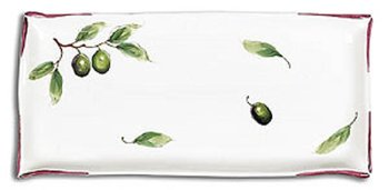 Hand Painted Rectangular Olive Tray - Antipasti Collection
