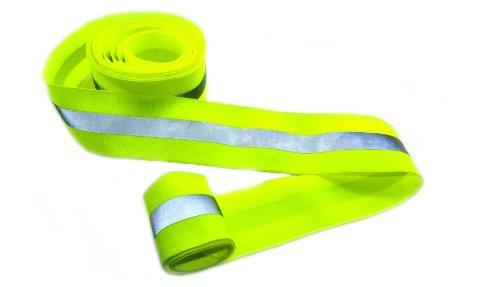 6 Yard 2 Inch Width Fabric Reflective Webbing Green for Sew (Fabric Width)
