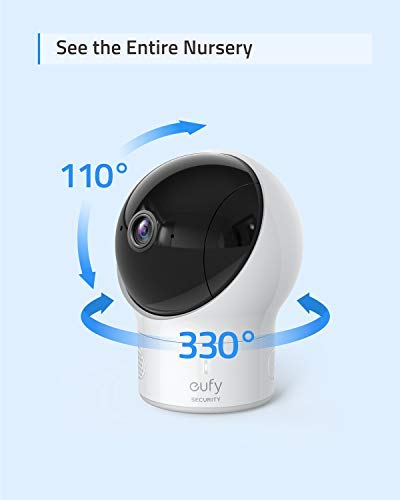 """Baby Monitor, eufy Security SpaceView Video Baby Monitor, Ideal for New Moms, 5"""" LCD Display, 110° Wide-Angle Lens Included, 720p HD Resolution, Night Vision, Day-Long Battery by eufy (Image #4)"""