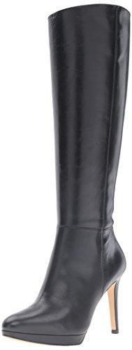 Nine West Women's Okena Leather Knee-High Boot, Black, 6 M US