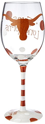 Game Day Outfitters NCAA Texas Longhorns Drinkware Wine Glass, One Size/12 oz, Multicolor - Ncaa Texas Longhorns Glass