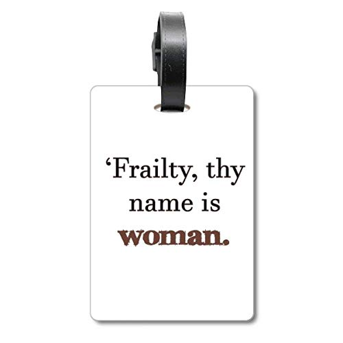 Frailty Names Woman Shakespeare Cruise Suitcase Bag Tag Tourister Identification Label