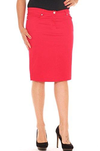 Mujer Falda Costa Para Emanuela Rojo fvtXq1x