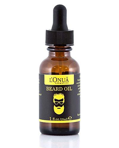 L'Onua Fragrance Free Beard Oil – 1 fl oz - 100% Natural Premium Conditioner & Softener, Unscented   Spring Woods   Orange Woods (Unscented, 1 oz)