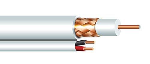 (RG59U 95 % COPPER COAX & 18/2 POWER CABLE 1000' WHITE)