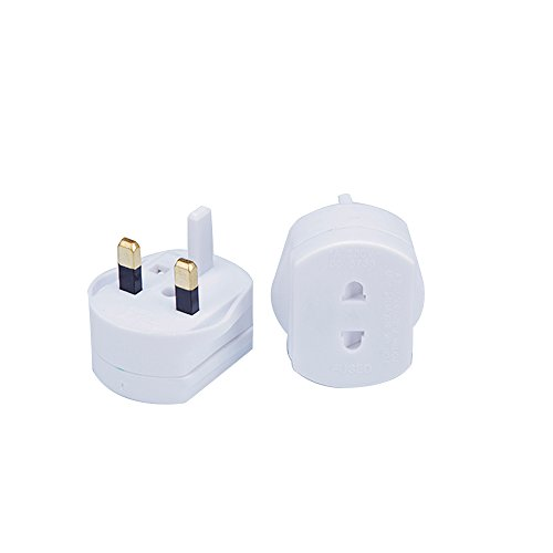 Gadgets Hut UK 2 Pin To 3 Pin 1A Fuse Adaptor Plug For Shaver/Toothbrush