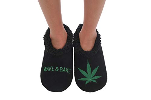 Snoozies 420 Mens Slippers | Slippers for Men | Wake & Bake | Large