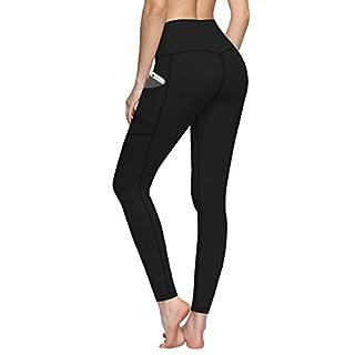 Fengbay High Waist Yoga Pants, Yoga Pants Tummy Control Workout Pants 4 Way Stretch Pocket Leggings Black