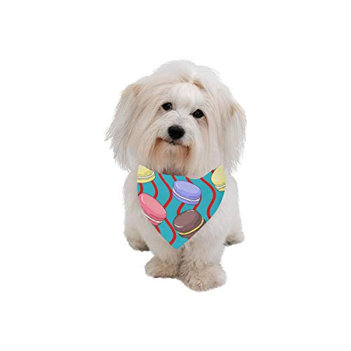 XINGCHENSS Pet Dog Cat Bandana Macaron Color Girl Color Sweet Fashion Printing Bibs Triangle Head Scarfs Kerchief Accessories for Large Dog Pet Birthday Party Easter Gifts