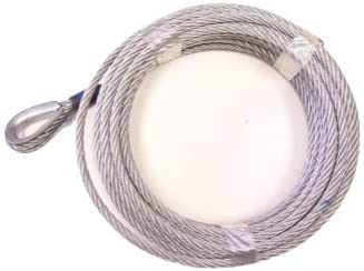 Galvanized Steel Winch Cable 100 with 3//8 G70 Clevis Slip Hook 7x19 Advantage 3//8