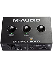 M-Audio M-Track Solo 48-KHz 2-channel USB Audio Interface with 1 Crystal Preamp, Phantom Power and Instrument Input
