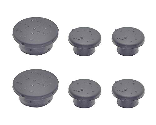 2 Set of 6 Pieces Tailgate Rubber Plug for Jeep Wrangler Tramp Stamp Tire Carrier Removable JK Rear Door Body Plugs 2007 models and ()