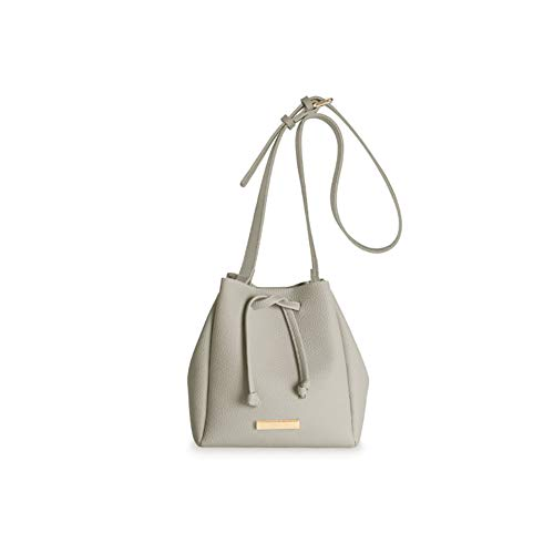 (Katie Loxton Grey Mini Chloe Small Women's Faux Leather Shoulder Handbag)