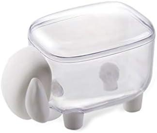 SBSNH リトルシープつまようじボックス、コットンボールや綿棒ホルダー主催蓋で、洗面化粧台バスルームジャー、ヒントスワブディスペンサー (Color : White)