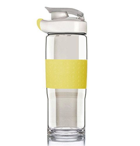 185-Oz-Top-Quality-Environmental-Borosilicate-Glass-Water-Bottle-with-silicone-SleeveBPA-FreeCrysital-ClearLeak-Proof-With-Spout-and-Handle