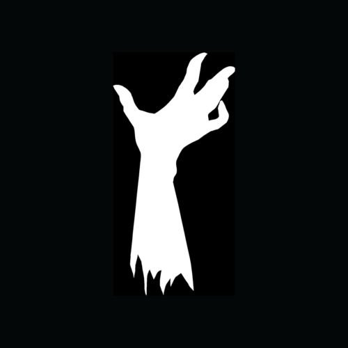 ZOMBIE HAND Sticker Dead Rising Vinyl Decal Death Virus Kill Funny Scary Gift S2 - Die cut vinyl decal for windows, cars, trucks, tool boxes, laptops, MacBook - virtually any hard, smooth surface (Computer Dead Rising)