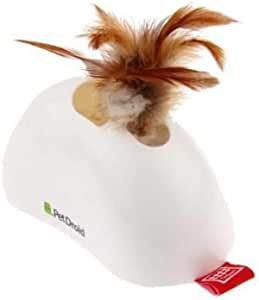 CAT TOY FEATHER HIDER W/ NATURAL FEATHER SOUND MODULE & MOTION SENSOR