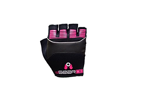 Damascus Protective Gear OG15WXS DGearOG Women's Obstacle Course Racing Half-Finger Gloves Reflective, Black, X-Small