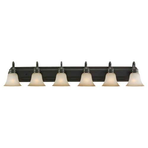 Sea Gull Lighting 44855-782 Gladstone Six Light Wall/Bath Vanity Style Lights, Heirloom Bronze Finish