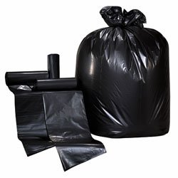 Colonial Bag- Low Density Trash Can Liners- 24 x 32, 15 Gallon, 1.0 mil, Black (250 Bags/Case)