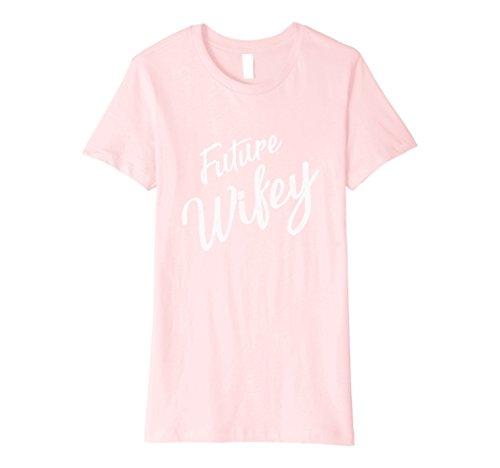 Womens Future Wifey Shirt Cute Bridal & Party Shower Gift Medium Pink
