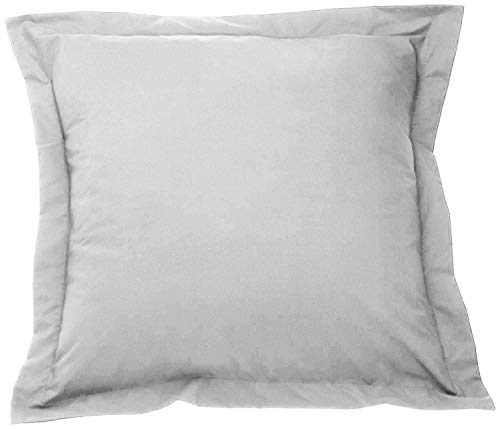 beddingstar European Pillow Shams Set of 2 Silver Grey Euro Pillow Shams 26 x 26 Pillow Cover 100% Pure Egyptian Cotton Genuine 550 Thread Count,Gorgeous Euro Size Decorative Bed Pillow Cover/Cases