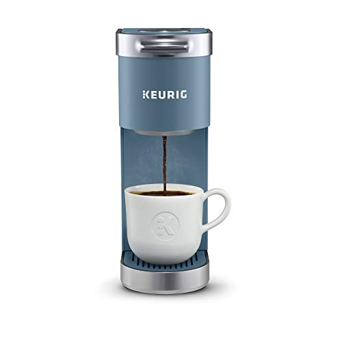 Keurig K-Mini Plus Coffee Maker, Single Serve K-Cup Pod Coffee Brewer, Comes With 6 to 12 oz. Brew Size, K-Cup Pod Storage, and Travel Mug Friendly, Evening Teal