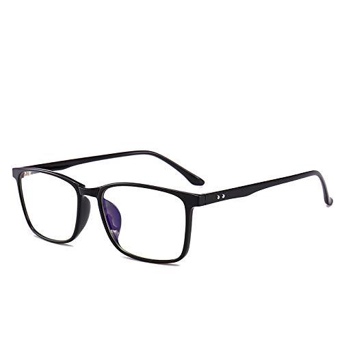 OUYAWEI قابل حمل برای مردان زن ضد اشعه آبی در برابر تابش راحت در برابر تابش مقاومت در برابر تابش عینک شیشه C1 روشن سیاه