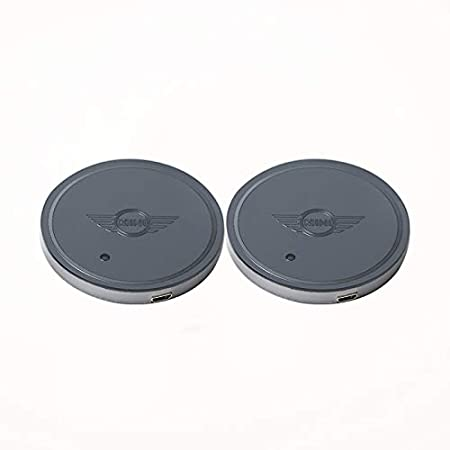 Auto Sport 2PCS LED Cup Holder Mat Pad Coaster with USB Rechargeable Interior Decoration Light fit ford