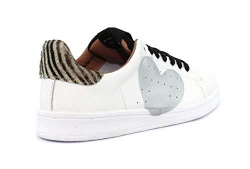 Nira Bianco Rubens Zebrina Cuore Dacu129 off Sneaker mini Black 7qFCwAdgxg