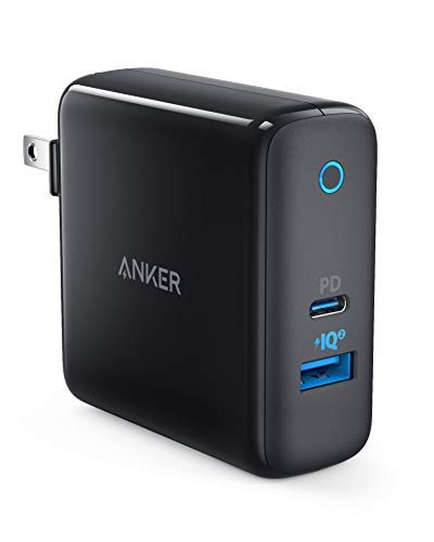 USB C Charger, Anker PowerPort II, UL Certified 49.5W Wall Charger with Foldable Plug, One 30W Power Delivery Port for MacBook, iPhone Xs/XS Max/XR/X/8/7/6/Plus, PowerIQ 2.0 for S9/S8/Plus and More