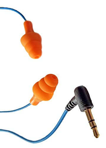 New Workinbuds Orange/Blue Earplug Earphones: Noise Reduction Headphones for Work