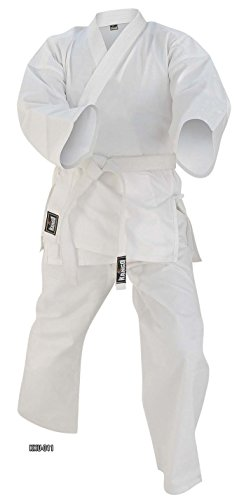 Kango Fitness New Martial Arts White 8 oz Weight Karate GI Uniform 000-7 Size (0/130)