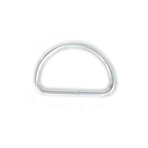 TSJ 50 Pack of Metal D Rings Heavy Duty 1 Inch D-Rings for Sewing, Keychains, Belts and Dog Leash