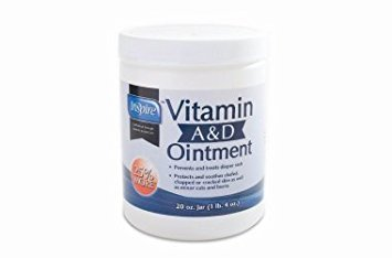 Unscented Vitamin A&D Ointment by Inspire - 20 oz. jar