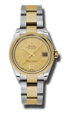 Rolex Datejust Gold Dial Women