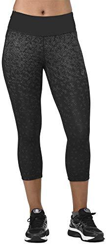 ASICS Print Womens 3/4 Capri Running Tights - Black-S