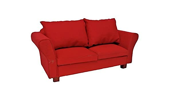 Amazon.es: Melody Jane Casa De Muñecas Moderna Rojos Sofa ...
