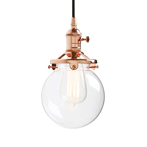 Light Copper Pendant (Permo Vintage Industrial Pendant Light Fixture Mini 5.9