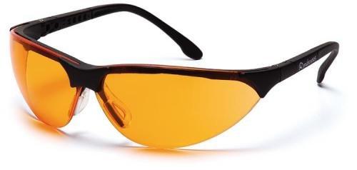 Pyramex Safety Rendezvous SB2840S bew/ährte Schutzbrille mit neigungsverstellbaren B/ügeln f/ür perfekte Passform//orange Gl/äser f/ür bessere Konturensicht