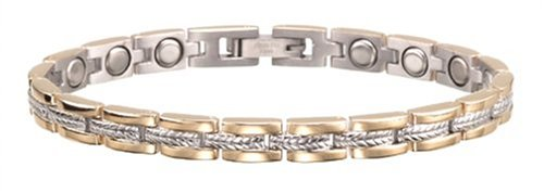 Sabona Lady Executive Regal Duet Magnetic Bracelet, Size Small