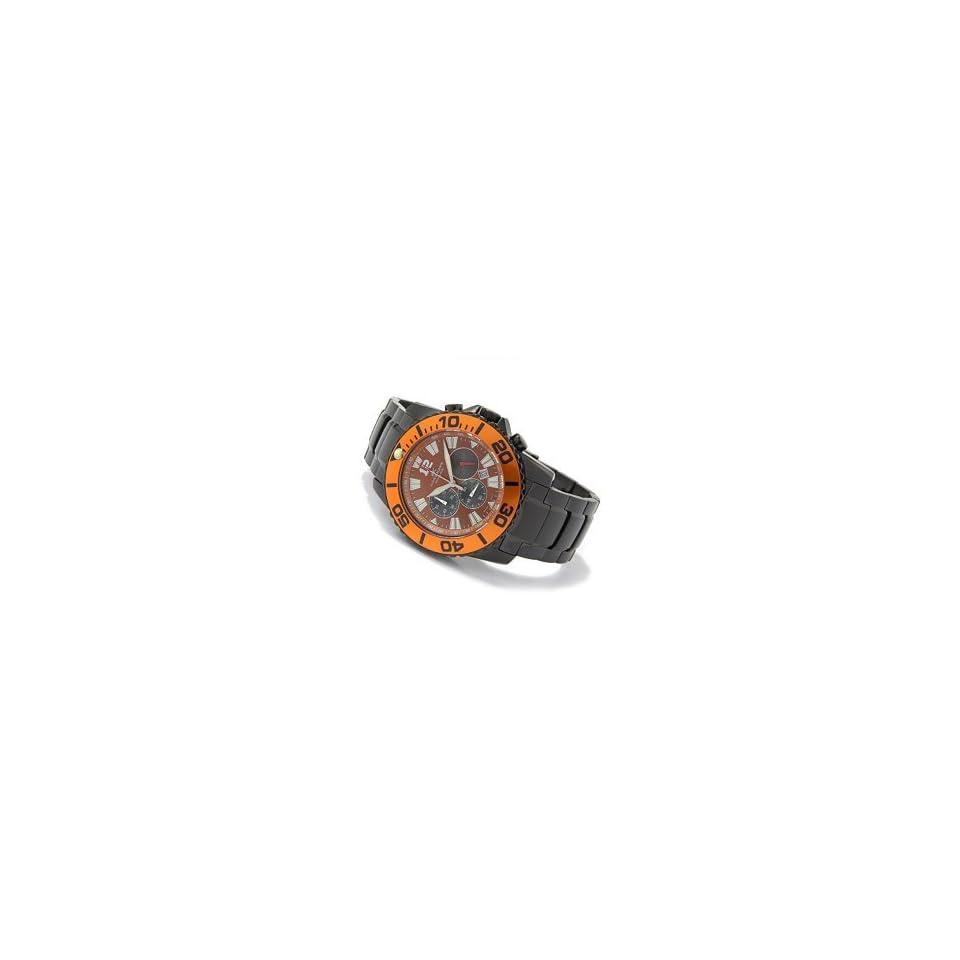 Adee Kaye Mens Sea Marine Black IP Chronograph Watch Model AK 4013 MGM4
