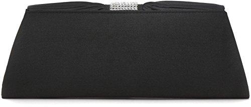 avec en 5 pochette noir et 11 satin en bandoulière VINCENT drapé PEREZ cm 120 strass avec x chaîne x sac retirable 27 cm pochette 8qwY4