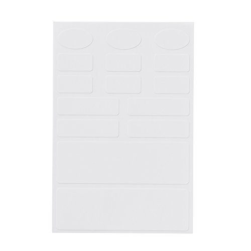 Large Product Image of Avery No-Iron Kids Clothing Labels, Washer & Dryer Safe, Writable Fabric Labels, 45 Assorted Shapes & Sizes (40700)