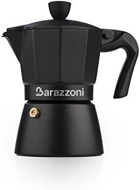 Barazzoni la cafetera Deluxe 6 Tazas, Aluminio, Negro, 10 x 16,6 x 20.3 cm: Amazon.es: Hogar