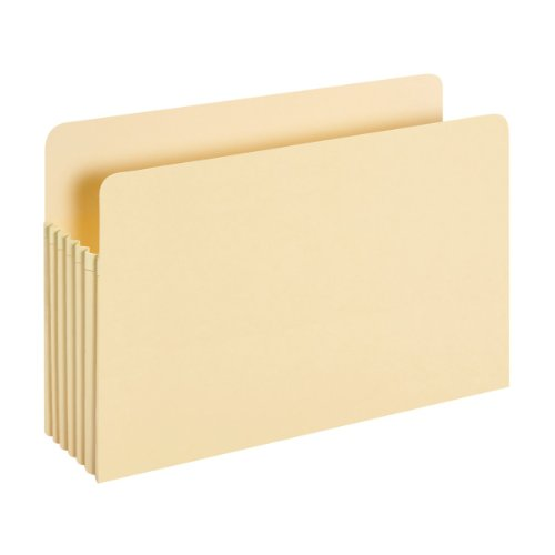 Pendaflex Smart Shield File Pockets, Legal Size, Manila, 5.25 Inch Expansion (1536AM) (Antimicrobial Top Tab Folders)
