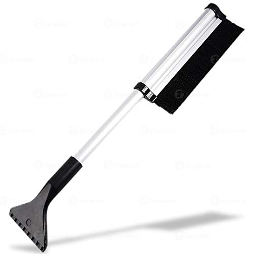 Car Windshield Snow Brush With Integrated Ice Scraper - Extendable Telescoping Miracle Windshield Ice Scraper -Extends and Retracts from 17